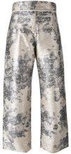 Aviù - floral print pants - women - Polyester/Polyamide/Spandex/Elastane/Cotone - 40, 42 - Metallizzato