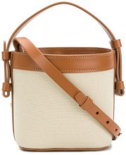 Nico Giani - Borsa a secchiello - women - Calf Leather/Cotton - One Size - BROWN