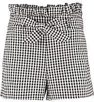 Pamela Gingham Paperbag Waist Shorts