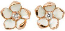 Shaun Leane - Orecchini diamantati 'Cherry Blossom' - women - Sterling Silver - OS - WHITE
