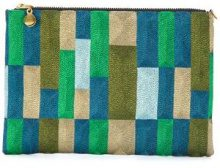 Anne Grand Clement - Clutch con fantasia - women - Silk - OS - MULTICOLOUR