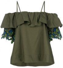 Pinko - Blusa con spalle scoperte - women - Cotone - 40, 42 - GREEN