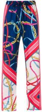 Pinko - printed straight trousers - women - Polyester - 40, 38, 42 - MULTICOLOUR