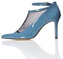 FIND Scarpe con Cinturino alla Caviglia Donna, Blu (Blue), 37 EU