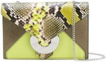 Just Cavalli - snake effect shoulder bag - women - Cotton/Leather/Goat Suede - One Size - GREEN