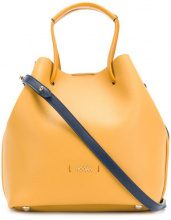 Hogan - logo bucket bag - women - Leather - OS - YELLOW & ORANGE