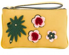 Alila - Clutch on fiore applicato - women - Neoprene/Velvet - OS - YELLOW & ORANGE