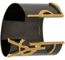 Saint Laurent - Bracciale rigido 'Monogram' - women - Brass - OS - BLACK