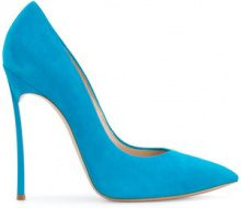 Casadei - Pumps a punta - women - Chamois Leather/Leather/Kid Leather - 37.5, 38, 39, 41 - BLUE