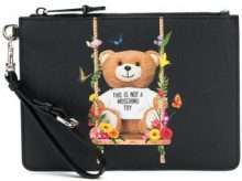 Moschino - Pochette con stampa 'Toy Bear' - women - Leather - One Size - BLACK