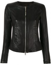 S.W.O.R.D 6.6.44 - Giacca girocollo - women - Cotton/Leather/Polyester - 42, 44, 46, 48 - BLACK