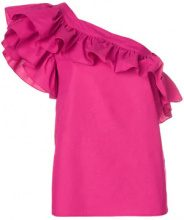 Philosophy Di Lorenzo Serafini - Blusa monospalla - women - Cotton - 40, 42, 38 - PINK & PURPLE