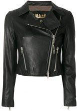 - S.W.O.R.D 6.6.44 - Giacca biker 'Impact' - women - fibra sintetica/pelle di agnello/cotone - 46, 48 - di colore nero