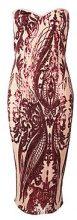 Boutique Quinn Sequin Bandeau Midi Dress