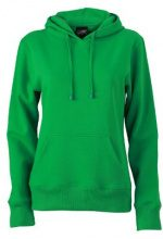 James & Nicholson Sweatshirt Hooded, Felpa Donna, Verde (Lime-Green), Large