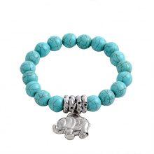 Bracciale turchese con pendente ad elefante