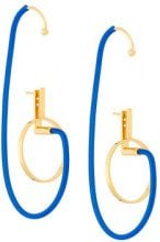 Paula Mendoza - Orecchino 'Shiva' - women - Gold Plated Brass/rubber - OS - BLUE