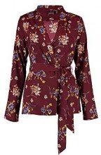 Evie Floral Belted Blazer