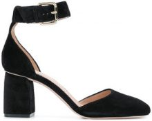 Red Valentino - ankle strap pumps - women - Leather/Suede - 36, 36.5, 37.5, 38, 38.5, 39.5 - BLACK