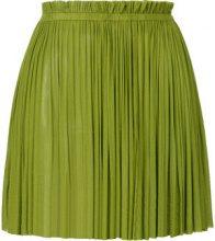 Elena Makri - Minigonna plissé - women - Silk - OS - GREEN