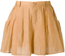 Mes Demoiselles - Shorts 'Initiee' - women - Cotton/Silk - 38 - NUDE & NEUTRALS