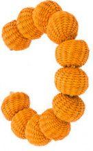 - Carolina Herrera - raffia beads bracelet - women - bronzo/rafia - Taglia Unica - di colore arancione