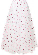 P.A.R.O.S.H. - lips embroidered tulle skirt - women - Polyester/Acetate/Viscose - XXS, XS, S, L - WHITE