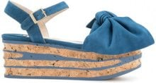 Paloma Barceló - Sandali con zeppa - women - Leather/Suede/rubber - 37, 38, 40, 41 - BLUE