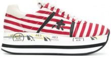 Premiata - Beth sneakers - women - Cotton/Leather/rubber - 36, 35, 39, 40 - RED