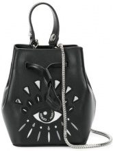 - Kenzo - Eye bucket bag - women - Polyamide/Leather/Polyurethane/CotonePolyurethanePolyester - Taglia Unica - Nero