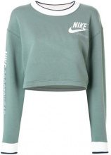 Nike - cropped sweatshirt - women - Polyester/Spandex/Elastane/Cotton - L - GREEN