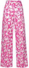 - Stine Goya - carnation jacquard trousers - women - Cotone/Polyester/Metallized Polyester - S, M - Rosa & viola