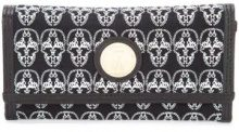 Thomas Wylde - clutch busta con teschi - women - Cotton/Leather - OS - BLACK