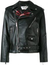 Valentino - Giacca biker 'Love blade' - women - Lamb Skin/Cotton/Viscose/Polyester - 38, 42, 46 - BLACK