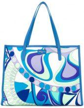 Emilio Pucci - Borsa Tote - women - Polyester/Calf Leather - OS - BLUE