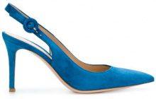 Gianvito Rossi - Pumps con apertura posteriore - women - Leather/Calf Suede - 36, 37, 38, 37.5, 38.5 - BLUE