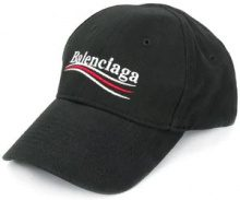 Balenciaga - Cappello da baseball 'New Politic' - women - Cotton - L - BLACK