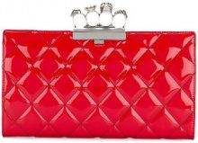 Alexander McQueen - knuckleduster clutch - women - Leather - One Size - RED