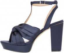 BIANCO Satin Strap Sandals Women Blue
