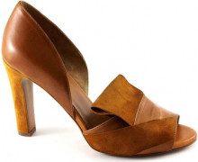 Sandali Malù  MALU' 1460 cuoio scarpe sandali donna spuntate tallone chiuso ta