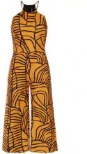 Andrea Marques - wide leg cropped jumpsuit - women - Cotone/Polyester - 42 - YELLOW & ORANGE