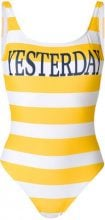 Alberta Ferretti - striped swimsuit - women - Polyester/Spandex/Elastane - 42, 44, 38, 40 - YELLOW & ORANGE
