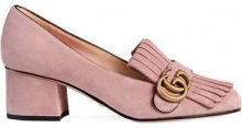 Gucci - Décolleté tacco medio in camoscio - women - Leather/Suede/metal - 36, 37, 37.5, 38, 39.5, 40.5, 41, 39, 38.5, 40 - Rosa & viola