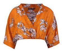 Petite Molly Floral Kimono Crop Top