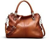 Kattee 'Donna borsa in vera pelle Satchel Shoulder Handbag