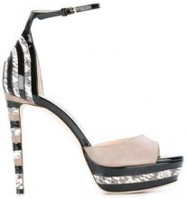 Jimmy Choo - Max 120 sandals - women - Calf Leather/Leather - 35.5, 37, 38, 40 - Nero