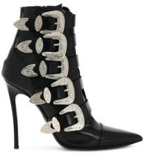 Dsquared2 - buckled heeled boots - women - Calf Leather/Goat Skin/Leather - 37, 38, 39, 40, 36, 38.5, 41 - BLACK