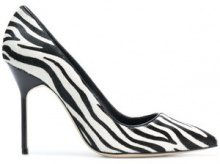 Manolo Blahnik - Pumps 'BB' - women - Calf Leather/Goat Skin/Calf Hair - 36, 36.5, 39, 39.5, 40, 41, 41.5 - WHITE