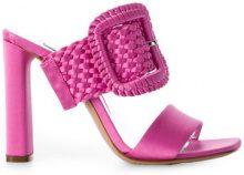 Casadei - Mules - women - Leather/Viscose - 36, 38.5, 40, 35, 37, 38, 39 - PINK & PURPLE