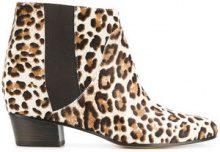 Golden Goose Deluxe Brand - Stivaletti 'Dana' - women - Leather/Calf Hair - 36, 37, 38, 39 - BROWN
